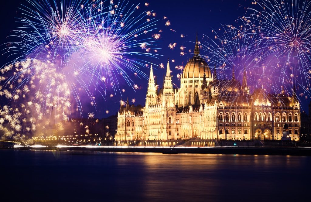 New Year´s eve celebration in Budapest.