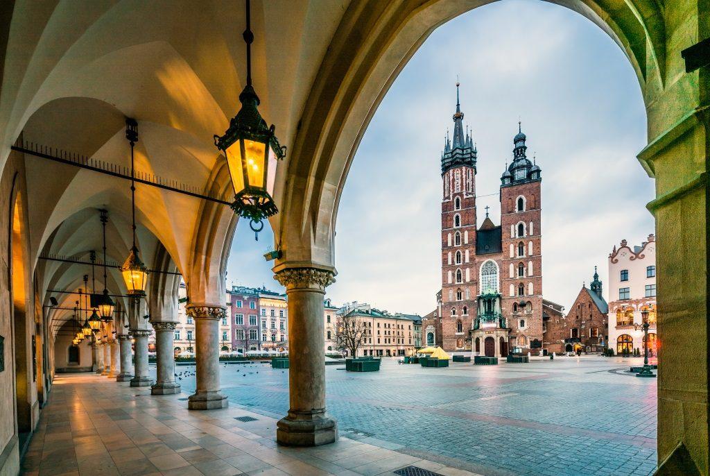 Krakow in winter.
