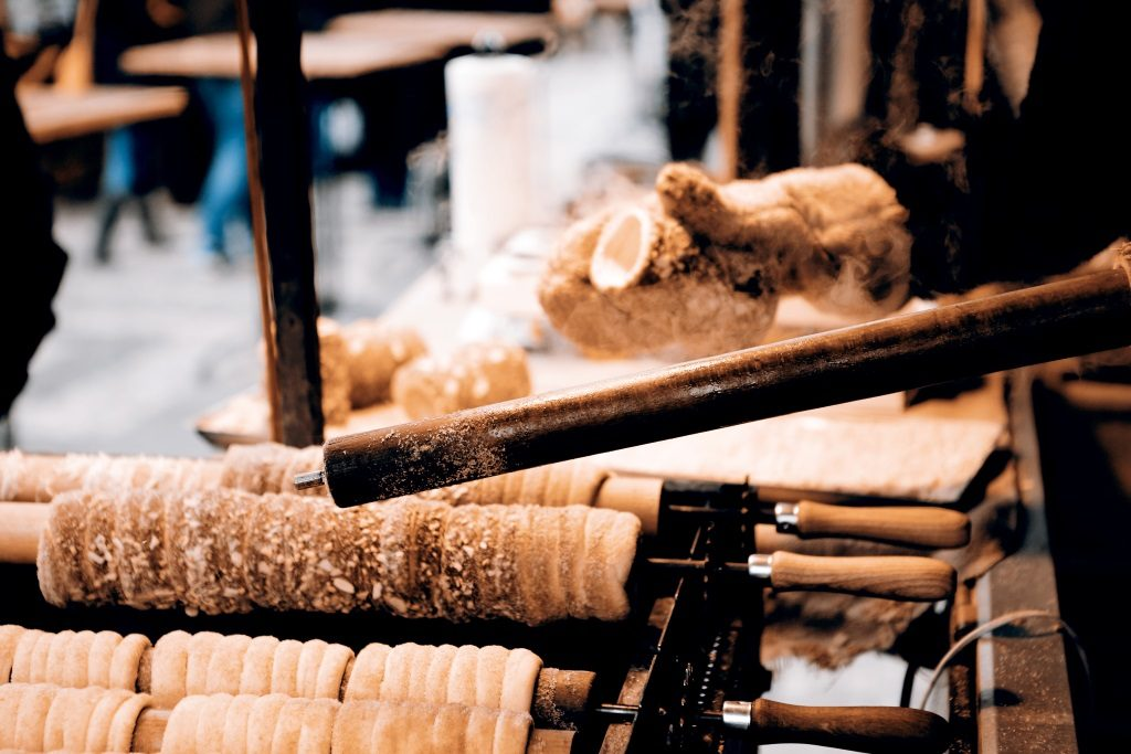 Chimney cake can be found on the streets of Hungary and in other Central Europe´s countries.